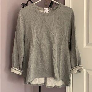 Mono B lace back light sweatshirt